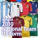 【サッカーショップ加茂】アディダス各国代表2010モデルユニフォーム