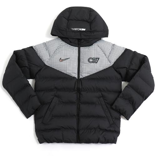 ナイキ ジュニア CR7 パデットジャケット ブラック/ホワイト/イリディセント サッカー