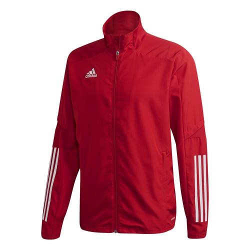 アディダス CON20 プレゼンテーションジャケット チームパワーレッド×ホワイト サッカーウェア