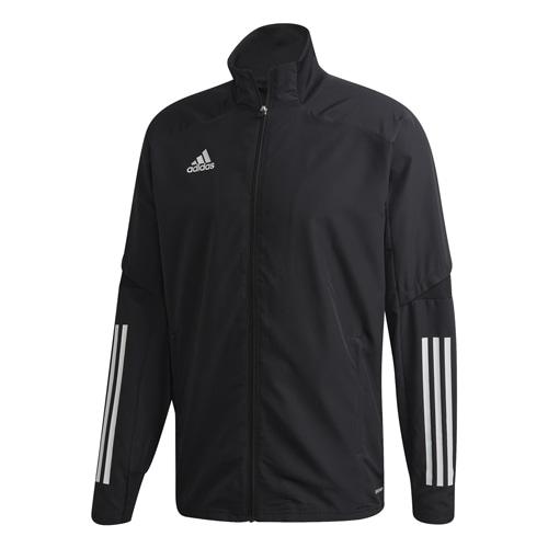 アディダス CON20 プレゼンテーションジャケット ブラック×ホワイト サッカーウェア