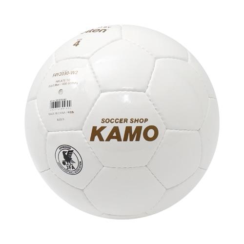 モルテン KAMOオリジナル サインボール 4号球 ホワイト サッカーボール