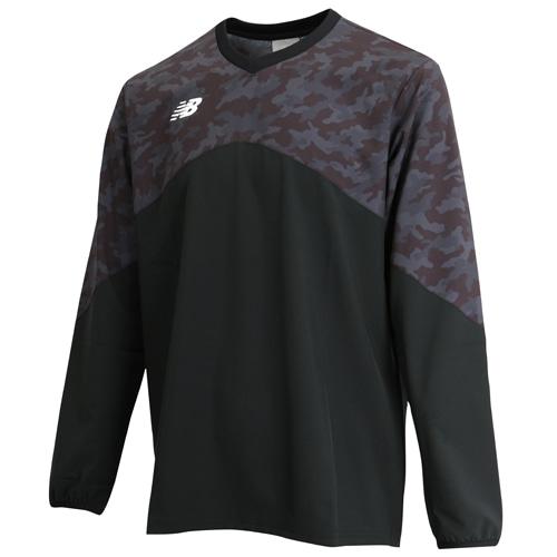 ニューバランス ピステトップロングスリーブシャツ ブラック サッカーウェア