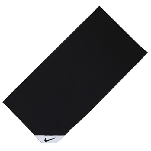 ナイキ クーリング スモールタオル ブラック×ホワイト サッカー