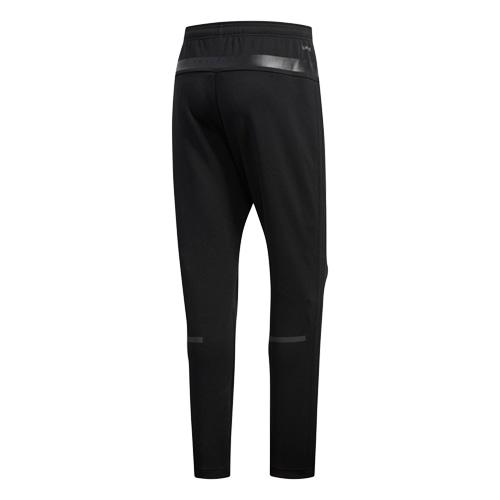 M adidas 24/7 ヘザー ウォームアップパンツ ブラック/ブ