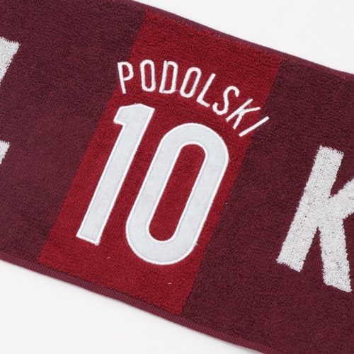 19 VI背番号タオルマフラー PODOLSKI #10 NS