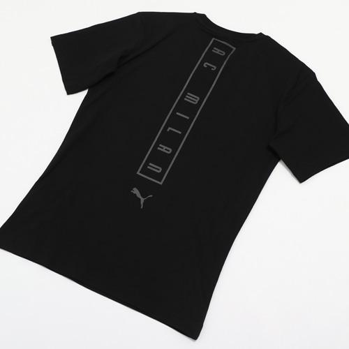 AC MILAN ファン スローガン TEE 08PUMA BLACK L
