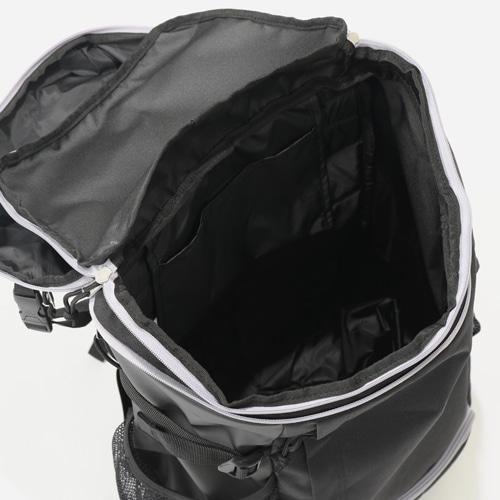 ボール用デイバッグ黒シルバー