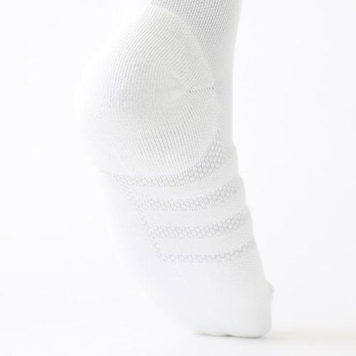 ALPHASKIN ハーフクッションクルーソックス ホワイト/ブラック