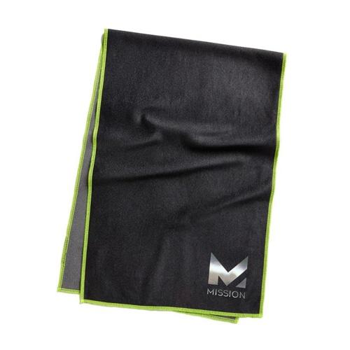 MAX COOLING TOWEL JET BLACK/HIGH VIS GRE