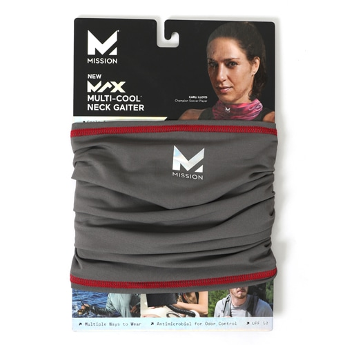 MAX FITNESS MULTI-COOL CHARCOAL/RED NS