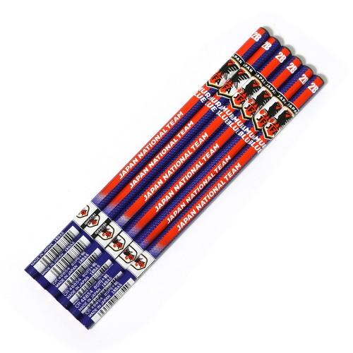 日本代表 6本組鉛筆2B レッドライン