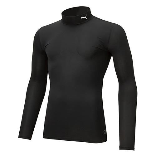 コンプレッション モックネック 長袖 シャツ
