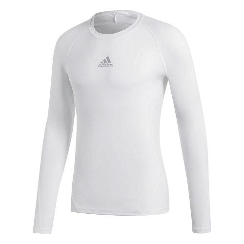 ALPHASKIN TEAM ロングスリーブシャツ ホワイト