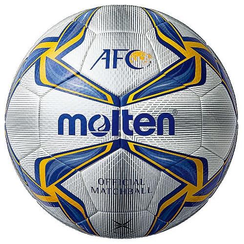 モルテン AFC試合球 NS ホワイト×ブルー×イエロー サッカーボール