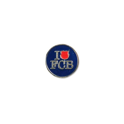 ピンバッジ I LOVE FCB