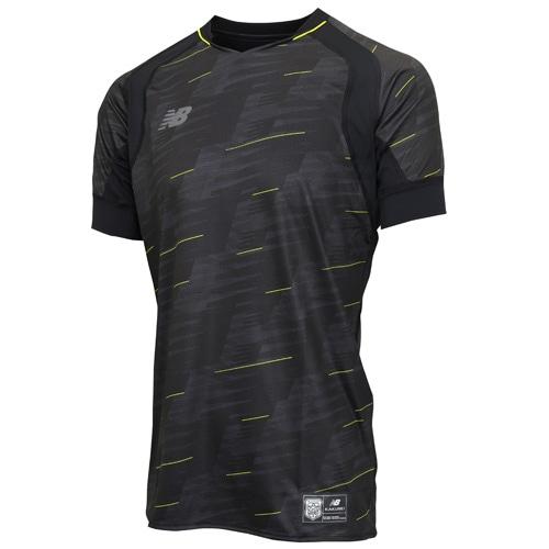 ニューバランス ハイブリッドプラクティスシャツ ブラック サッカーウェア