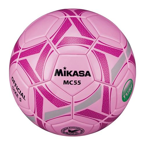 サッカー5号 検定球 貼り ピンク NS