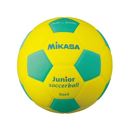 ジュニアサッカー3号 EVA 約150g 黄/緑 NS