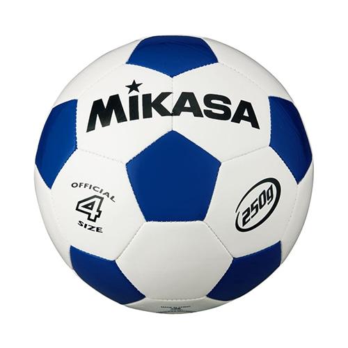 サッカー4号 軽量球 約250g 白/青 NS