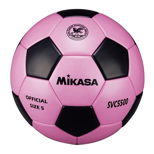 サッカー5号 検定球 貼り ピンク黒 NS